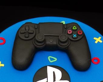 3D Playstation 4 Controller Joystick Sugarpaste Cake Topper