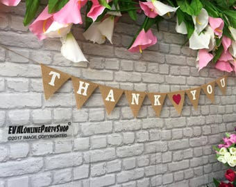 THANK YOU Sign Mr Mrs Photobooth Banner Burlap Hessian Banner,36 colours ,Rustic wedding Photo booth ,Top Table Decor , Wedding Banner