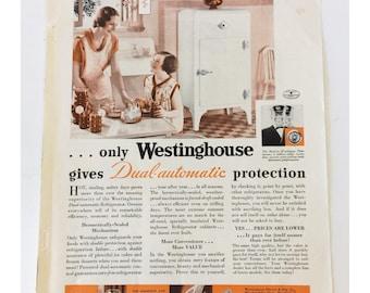 Vintage Westinghouse Magazine Ad 1930's