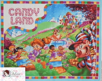 Quilting Treasures. Candyland Gameboard PANEL - Game Original Artwork - See description for full measurements of the panel