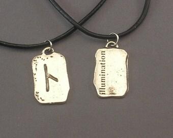 Illumination Rune Pendant Necklace
