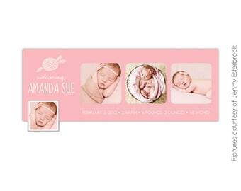 INSTANT DOWNLOAD - Birth Announcement FB Timeline Cover - E372