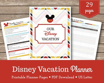 Disney World Vacation Planner / Travel Planner /Walt Disney World / Planning / Printables / Organizer / Instant Download