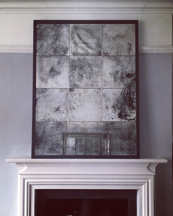 Extra Large Distressed Antiqued Glass Mirror In Any Finish