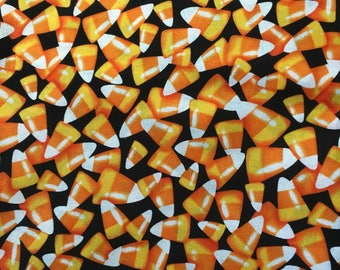 Halloween Candy Corn Cotton Fabric BTY