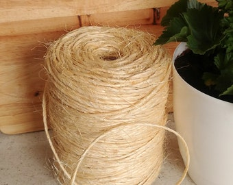 Eco-friendly 100% Natural Sisal Twine Cord for Cats Parrots Toy Art & Crafts Décor Macramé  4 mm Thick - 200 metres