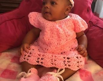 Crocheted Baby Shell Dresses