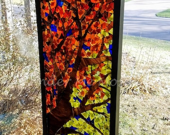 Stained Glass Mosaic - Autumn Foliage