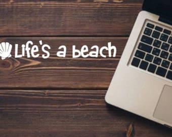 Life's a Beach Decal   Beach Decal   Beach Life Decal