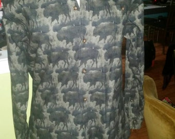 Abstract Buffalo Print Shirt by John Rich and Bros. Woolrich