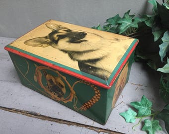 """Box metal lithographed """"of Andreis"""""""