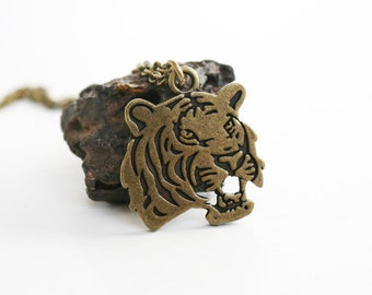 Tiger Head Necklace