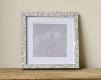 Silver Glitter Sparkle Photo Frame with Removable Border