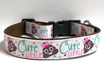 "1"" Cute little poo collar"