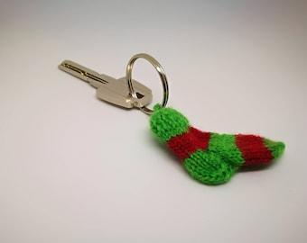 Keychain, little sock, tiny sock, funny