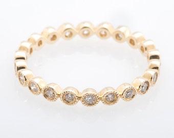 Diamond Cloud Ring 14K