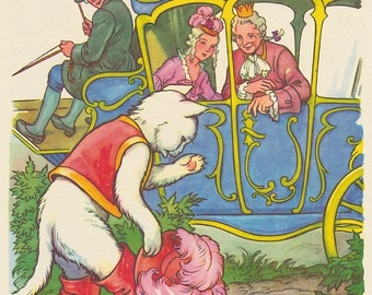 Vintage Book Image (1985): from Puss in Boots. Fairy Tale. NOT A BOOK.
