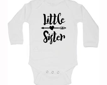 Little Sister White Infant One-Piece