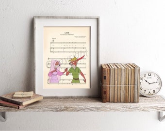 Robin Hood and Maid Marian Sheet Music Art Print