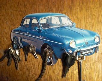 Renault dauphine hook key/renault dauphine gordini blue keychain