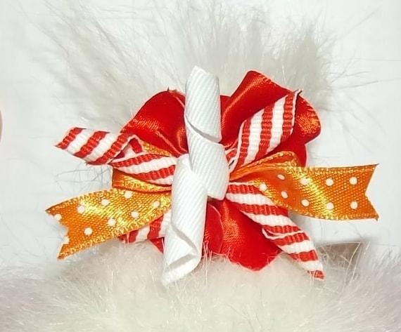 Puppy Bows ~ PINWHEEL korky loops dog grooming bow pet hair barrette  many colors