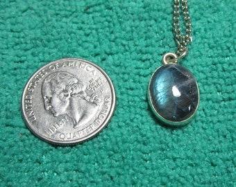 50% off Sterling  Labradorite  Gemstone Necklace Gemstone Pendant Silver Necklace