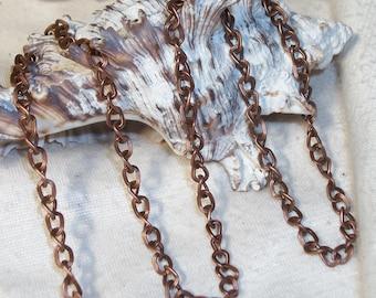 5 meters Antique copper twist chain- 16.5 feet (5 meters)- 5 x 4 mm links