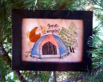 Gone Campin By Kassie Moen And Cedarberry Stitches Hand Embroidery Pattern Packet 2007