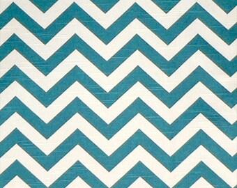 1/2 yard Zig Zag Aquarius Blue Premier Prints Chevron - Slub Fabric  Home Decor Weight