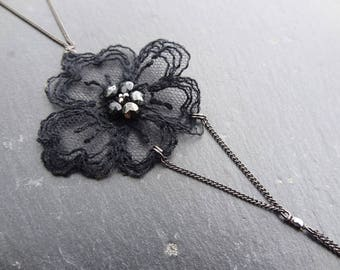 Back/collar lace black wedding jewelry
