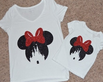 ADULT Minnie Cinderella Castle Shirt, Magic Kingdom Shirt, Disney Shirt, Family Shirt