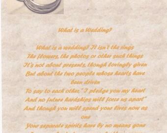 Bespoke Wedding Poem Example