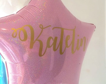 "Personalised 19"" Sparkle Star Balloon, Choice of Colours - Any Message Available, Birthday, Party, Wedding, Bridal Shower, Baby Shower"