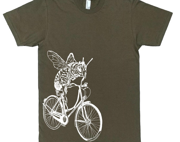 Mens Funny TShirt - Mens Gift - Boyfriend Tshirt - Bee Tees - Bike TShirt - Biking Cycling - T Shirts for Men - Honey Bee TShirt