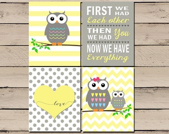 Owl Nursery Art Owl Nursery Pictures Owl Nursery Decor Baby Girl Owl Nursery Owl Nursery Print First we had each other Digital DIY  sc 1 st  Etsy & Owl Print. Owl Nursery Art. Owl Nursery. Owl Nursery Decor.