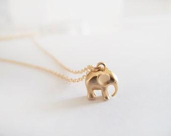 Blue opal sterling silver elephant necklace mini elephant gold elephant necklace everyday jewelry aloadofball Images