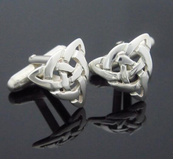Infinity Knot Cuff Links - Trinity Knot Cuff Links - Handmade Cuff links - Irish Jewelry - Free Insured Worldwide shipping