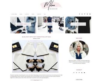 Responsive WordPress Theme | Milan Fashionable Blog Design | WordPress Template | Genesis Child Theme