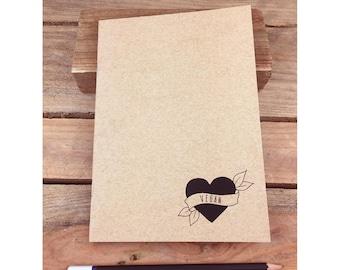 Vegan Eco Notebook, Jotter, Sketchbook, Journal A5