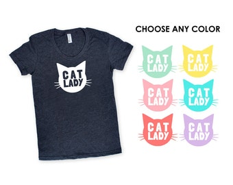 Cat Lady TShirt - Family Photos, New Pet, Crazy, Funny TShirt, Gift for Her, Kitty, Meow, Caturday