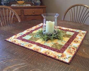 Quilted table topper, table topper, quilted table mat, quilted candle mat, candle mat, quilted table decor, table decor