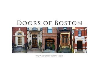"8""x16"" Doors of Boston print - Boston doors, Boston photography, poster, print, wall art, home decor, photography, art, architecture, doors"