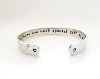 Godmother Gift | Grandmothers Gift | Gift Ideas| Godmothers are God's special..Hammered Quote Bracelet, Customizable, By Timeless Maiden
