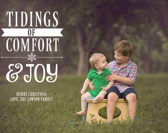 PRINTABLE CHRISTMAS CARD-Tidings of Comfort and Joy