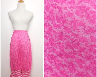 Pink Floral Long Bloomers/ Small Medium