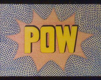 POW - An Original Comic Book Pop Art Painting By R.McCutcheon
