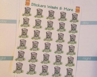 30 tiny recycle stickers for Erin Condren Life Planner Filofax Gillio #SWM00049