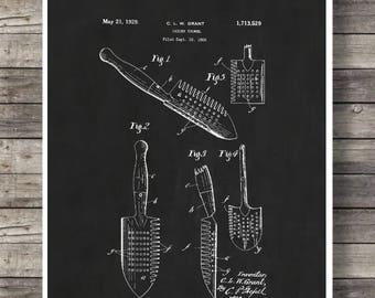 Print Art Vintage Trowel Patent Art From 1929 Digital Download Art Print