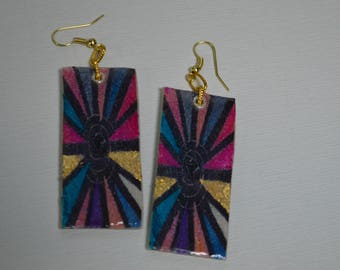 Polymer Clay  earrings,Gifts for her, Quirky ,best selling product, Quirky jewelry, handpainted earrings