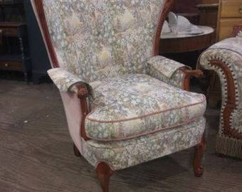 Antique Vintage Wingback Parlor Living Room Chair